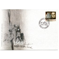 Latvian First Day Cover - Gunars Astra