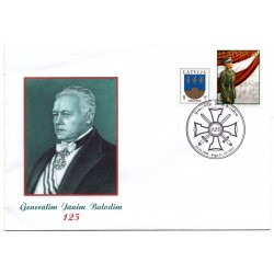 Latvian First Day Cover - General janim Balodim 125th