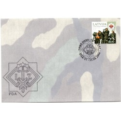 Latvian First Day Cover-Latvian National Guard