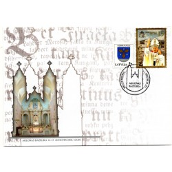 Latvian First Day Cover  - Aglonas Basilica