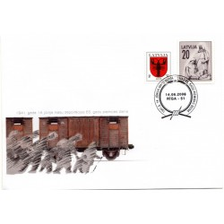 Latvian First Day Cover - Remembrance Day June 14
