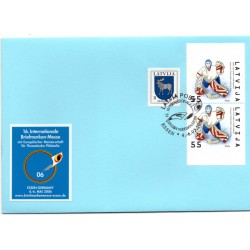 Latvian First Day Cover -Exhibition Essen-Germany