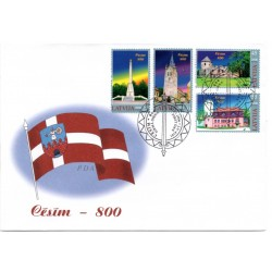 Latvian First Day Cover - Cesim 800