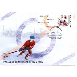 Latvian First Day Cover -World Cup of Ice Hockey 2006