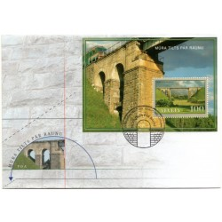 Latvian First Day Cover - Bridge over river Rauna