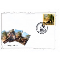 Latvian First Day Cover - Zvartes breccia