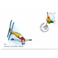 Latvian First Day Cover - winter Olympics 2006