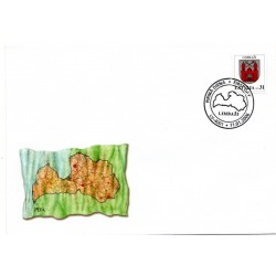 Latvian First Day Cover - Limbazi