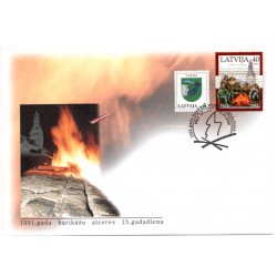 Latvian First Day Cover - Commemoration of the 1991 barricades
