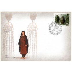 Latvian First Day Cover - archaeological ornaments