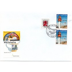 Latvian  Cover  with the first day stamps- MunzExpo