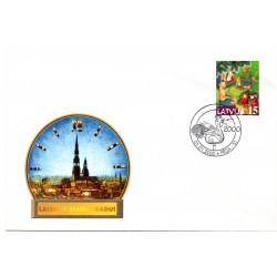 Latvian First Day Cover - Happy new year!