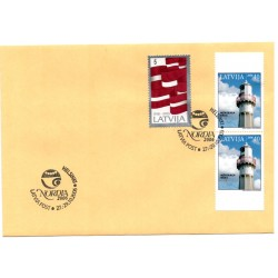 Latvian  Cover  with the first day stamps- Nordia 2006