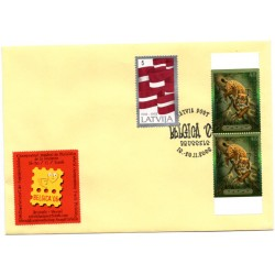 Latvian  Cover  with the first day stamps Belgica 06
