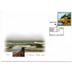 Latvian First Day Cover -Saulkrasti white dune