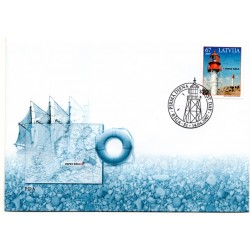 Latvian First Day Cover -Papes lighthouse