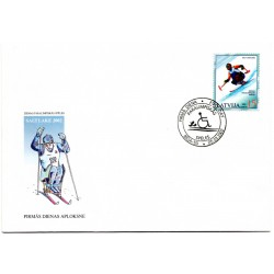 Latvian First Day Cover -Saltlake 2002