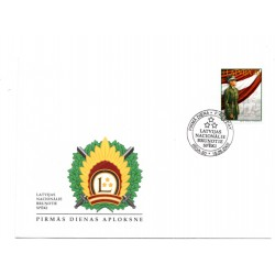 Latvian First Day Cover- Latvian National Armed Forces