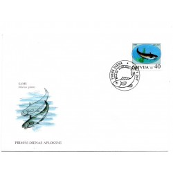 Latvian First Day Cover - Silurus glanis