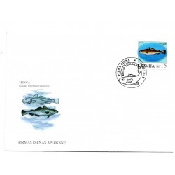 Latvian First Day Cover - Gadus morhua callarias