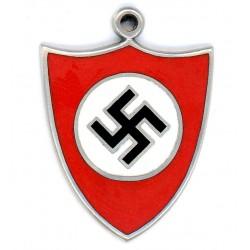 Silver WWII German NSDAP Pendant