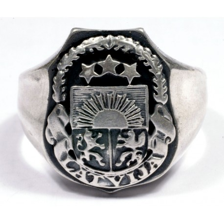 Latvian silver ring