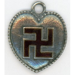 German pendant - heart with runes