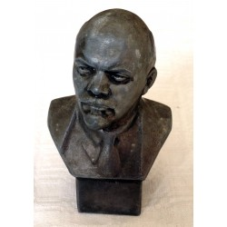Miniature Metallic Vladimir Lenin Bust