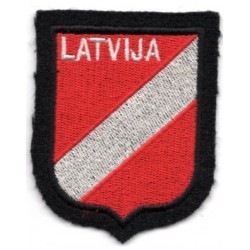 WWII Latvian  volunteers cloth insignia