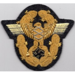 WWII GERMAN NATIONAL PROTECTION POLICE SLEEVE EAGLE insignia