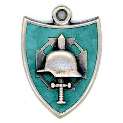 German WWII Military Pendant with helmet and sword