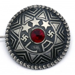 Silver Brooch with the Latvian national symbols