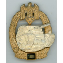 German 100 engagement Panzer Assault badge