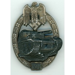 German 50 engagement Panzer Assault badge