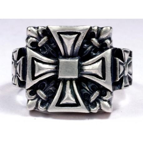 Silver Men's Biker Ring