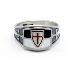 Sterling Silver Crusader Cross Knights Templar Ring