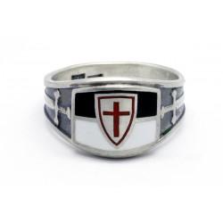 Sterling Silver Crusader Cross Knights Templar Ring
