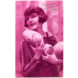 Vintage Latvian postcard