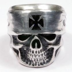 Байкерское кольцо из серебра