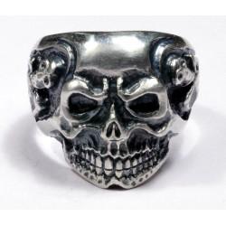 Silver Biker`s Ring