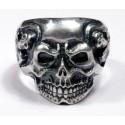 Серебряное байкерское кольцо