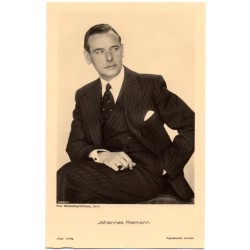 Vintage postcards-cinema star Johannes Riemann
