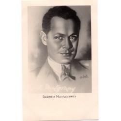 Vintage postcards-cinema star Robert Montgomery
