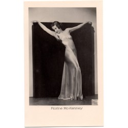 Vintage postcards-cinema star Florīne Mc-Kenney