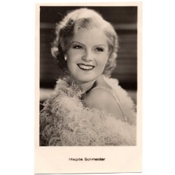Vintage postcards-cinema star Magda Schneider
