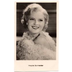 Vintage postcards-cinema star Magda Schneider