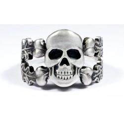Перстень с черепом Серебряный