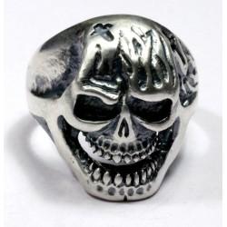 Biker ring aus Silber