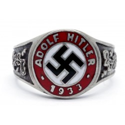 German WW2 AH 1933 enamel ring