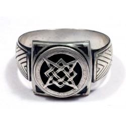Мужское байкерское серебряное кольцо